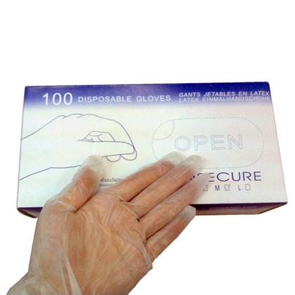 PVC手套  一次性PVC手套 出口无粉美容手套 家用清洁卫生手套 PVC 手套