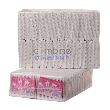 HD-4  100支木袋  棉签 纯棉卸妆棉棒化妆卫生棉签专用化妆棒