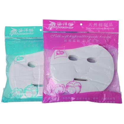 HB-14 网纹面罩100片 美容专用面膜纸 一次性无纺布蚕丝鬼脸贴面膜纸网纹面罩