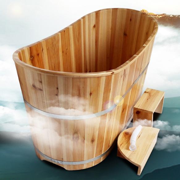香杉木成人浴桶 泡澡洗澡木桶 浴缸桑拿沐浴桶(1500*600*650)