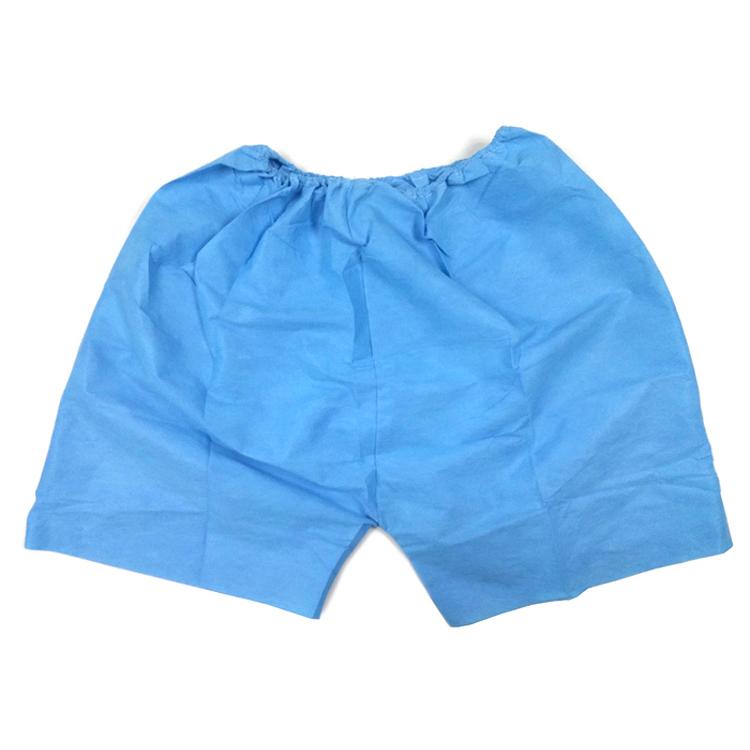 加厚无纺布四角裤优质 加厚无纺布 松紧腰 男式 桑拿 足浴 平角裤 一次性四角裤