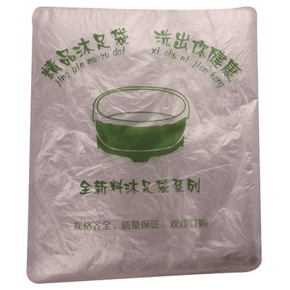E-701 脚盆袋 沐足袋 白色一次性足浴袋足疗塑料袋洗脚沐足袋桑拿木盆套口袋
