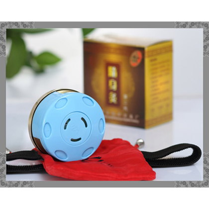 HI-13 随身灸 纯铜 纯铜艾灸盒随身灸含方形阻烟布套/艾灸器具/温灸盒/温灸器/艾条盒