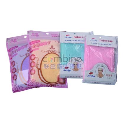 HF-52  包头巾 美容院专用瑜珈吸汗魔术贴美容巾洗脸化妆面膜束发带包头巾