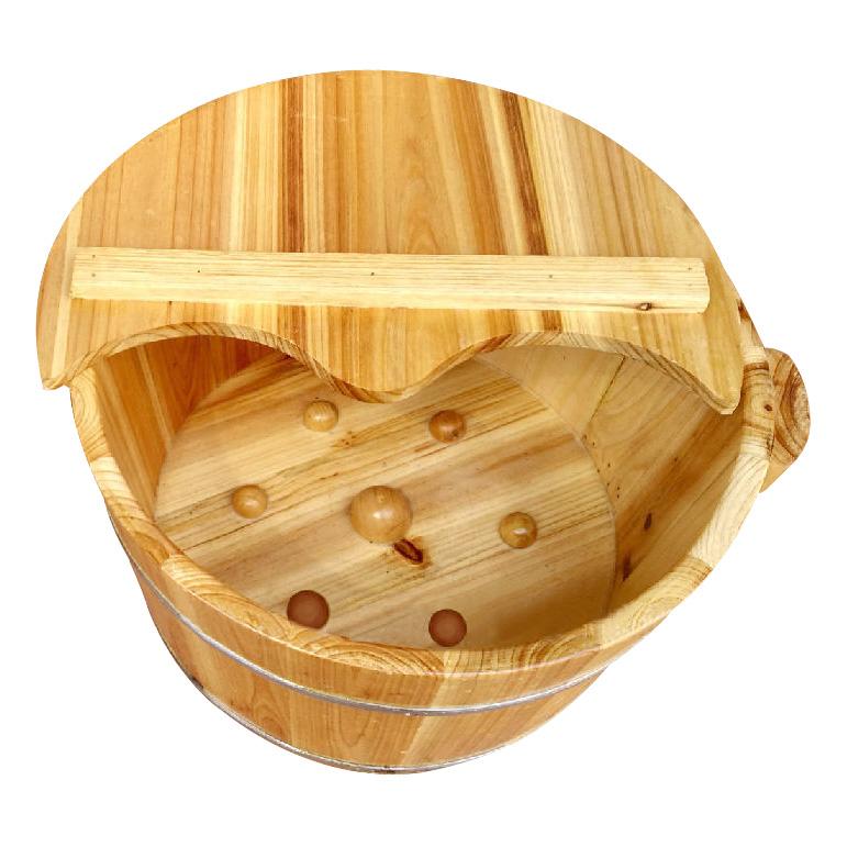 熏蒸木桶泡脚洗脚有盖木桶浴足中药保健熏蒸桶木质桶