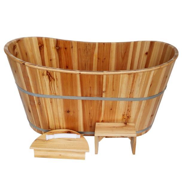 香杉木成人浴桶 泡澡洗澡木桶 浴缸桑拿沐浴桶 (1300*600*650)