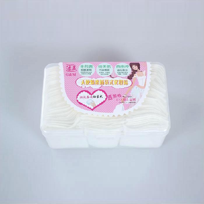 天使魅恋插袋式化妆棉  柔软型化妆棉 护理用卸妆棉 硬盒装