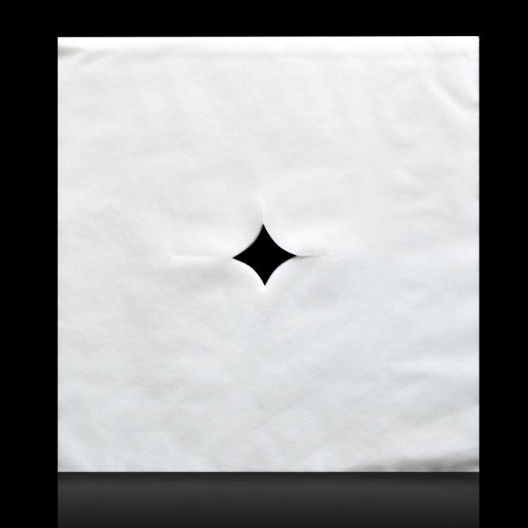 H-314 一次性美容洞巾  一次性美容床头洞巾 枕头巾美容床头垫十字孔床头巾白洞巾粉洞巾